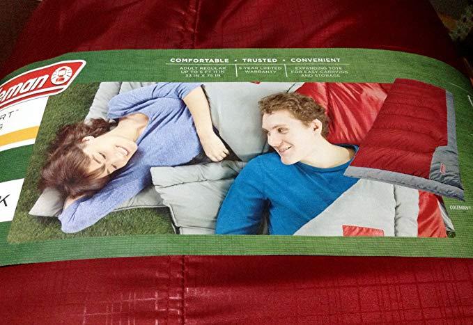 Coleman Comfortsmart 50 Degrees Sleeping Bags 2 Pack Red