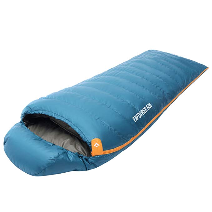 KingCamp Sleeping Bag Winter Envelope Hooded Ultra Warm Down Lightweight Portable Waterproof Comfort with Compression Sack for Backpacking Camping Hiking -4F/-20C
