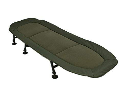 AMENITIES DEPOT 6-Leg Outdoor Folding Bedchair Chaise Lounge Beach Camping Bed Cot(202050A)