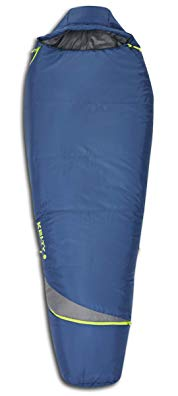 Kelty Tuck 22F Degree Mummy Sleeping Bag – 3 Season Ultralight Sleeping Bag with Thermal Pocket Hood, Zippered Opening in Footbox. Lightweight Traveling Backpacking Tent/Hammock Camping Sleep System – Stuff Sack with Compression Straps Included