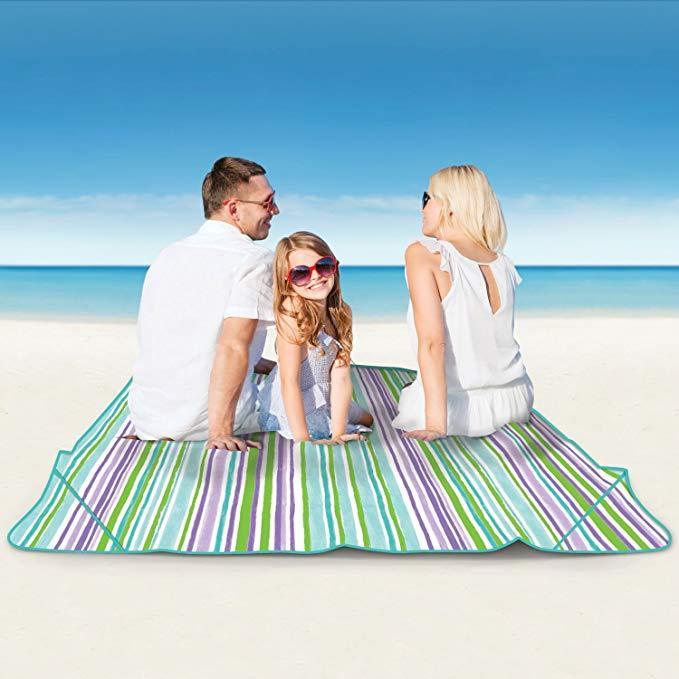 Laura Ashley Seaside Beach Tote & Family Blanket