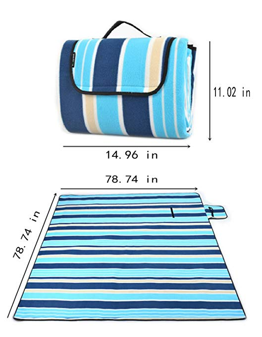 Famous Juggle 79x79in Thick Outdoor Waterproof Blanket Mat, Camping Blanket,Picnic Mats,Easy To Fold - Perfect For Beach, Travel,Hiking & A variety of colors optional