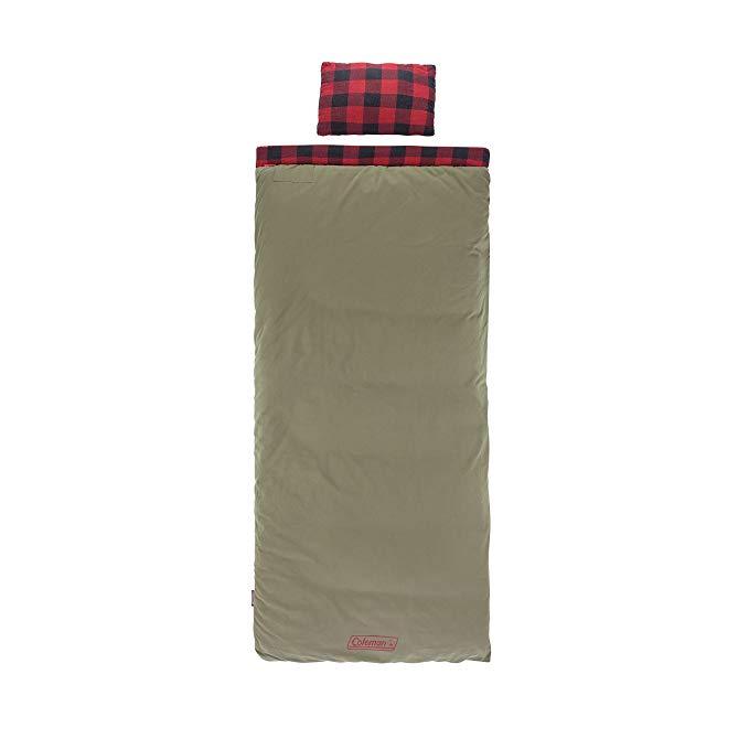 Coleman Big Game Big & Tall Sleeping Bag (-5 Degrees), Red Plaid